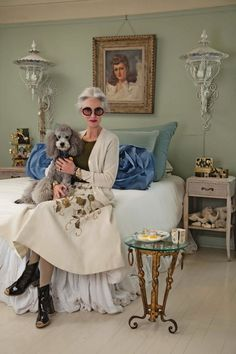 RESPECT YOUR ELDERS Photographer and blogger Ari Seth Cohen recently captured some of America's most stylish older women in their NYC apartments for Vogue's July 2013 issue. Ari's blog Advanced Style is a street style blog with a difference - roaming the streets of New York looking not the Fash Pack but the silver haired, stylish and creative older population. This offers proof, that like a great bottle of red you only get better with age! Heres hoping!! Joyce Carpati Charming 80-year-old…