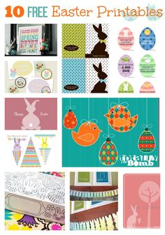 10 Adorable and FREE Easter Printables. I do love things that are free!