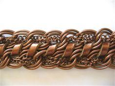 Jewelry Making Bracelets Leather and Copper Chain Bracelet Tutorial ~ The Beading Gem's Journal Copper Bracelet, Copper Jewelry, Leather Jewelry, Beaded Jewelry, Handmade Jewelry, Beaded Bracelets, Wire Jewelry, Jewellery, Diy Bracelet