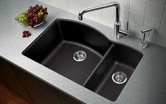 Unlike sinks meant for more decorative areas of the house, kitchen sink materials are all quite resilient; but if your family is young, you may want to consider an extra-durable material such as granite composite.