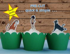 12x Jungle Book EDIBLE wafer stand up toppers by toppthatcupcake