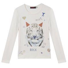 catimini - Kid Girl Ethno Tiger T-Shirt - 1