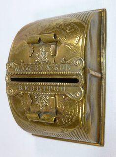 W. Avery Brass Pin/Needle Case; Circa 1870