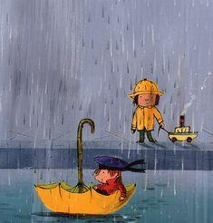 Ilustración de Emilio Urberuaga para la obra Soy pequeñito, de Juan Arjona. www.canallector.com