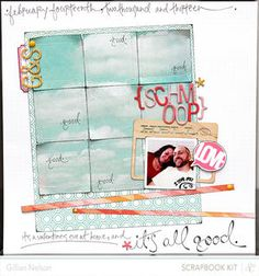 it's all good by just g at Studio Calico. Love how the patterned paper is used to almost make a photo.