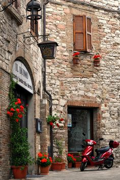Via Porta Perlici - Assisi, Umbria, Italy . Assisi what a peaceful relaxing place ❤️ Places Around The World, Oh The Places You'll Go, Places To Travel, Places To Visit, Around The Worlds, Travel Destinations, Turin, Beautiful World, Beautiful Places