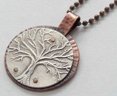 Tree of Life Pendant by Jennifer D. West, Off The Grid Designs: Etsy https://www.etsy.com/listing/217108255/tree-of-life-pendant-necklace-sterling?