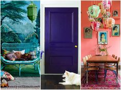 Inspiration for bold colour walls.