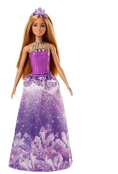 Mattel Barbie You Can Be Anything Princess Doll Purple Off The Shoulder Gown New