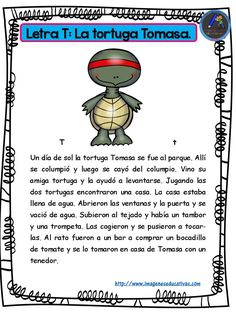 Stories for boys and girls with the letters the alphabet - Imagenes Educat . Spanish Teaching Resources, Spanish Lessons, Spanish Activities, Learn Spanish, Reading Activities, Classroom Activities, Short Stories For Kids, Fabric Stamping, Spanish Classroom