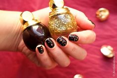 #Dior #Diorific Vernis #001 Golden Shock, #990 Smoky — Dior Golden Shock Makeup Collection for Christmas 2014