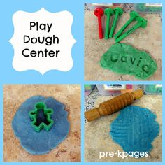 Playdough center set up tips for pre-k, preschool, or kindergarten. Your kids will have fun practicing fine motor skills while having fun in this center! Kindergarten Centers, Preschool Kindergarten, Literacy Centers, Playdough Activities, Preschool Activities, Kindergarten Preparation, Head Start Classroom, Art For Kids, Crafts For Kids