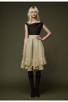 gary graham pleated skirt dress