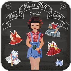 Piccolo me studio : Vintage Paper Doll Dress Up #Applications #learning #play #game #free  #android #kids