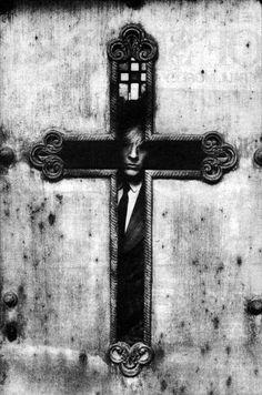 David Sylvian by Anton Corbijn - Bw photo art Joy Division, Clint Eastwood, David Bowie, Metallica, Religion, Sign Of The Cross, New Romantics, Tumblr, Black And White