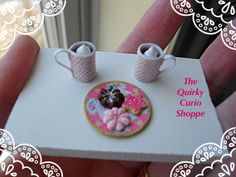 Dollhouse Miniature Cookies & Cocoa by TheQuirkyCurioShoppe, $8.00