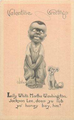 15 Unbelievably Racist Antique Valentine's Day Cards