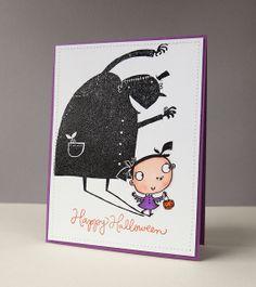 Shadow Monster card - by Jocelyn Olson