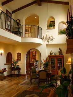 spanish mediterranean design interior   Spanish Style Home Design Idea: Classic Mediterranean Dining Room ...