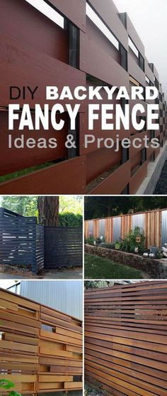 Some of these DIY backyard fence ideas are really amazing. Check out these projects and plan a fence for your yard! • DIY Backyard Fancy Fence Ideas! #DIY #DIYbackyardfence #backyardfenceprojects #backyardfence #diyfence #diyfenceideas #diyfenceprojects #DIYgardenprojects Diy Backyard Fence, Diy Fence, Backyard Landscaping, Fence Garden, Back Yard Fence Ideas, Backyard Ideas, Yard Fencing, Gabion Fence, Fence Art