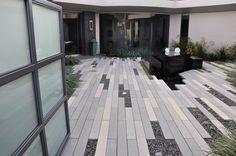 modular pavers Modern Patio, Modern Landscaping, Modern Courtyard, Courtyard Ideas, Contemporary Patio, Patio Interior, Home Interior, Modern Landscape Design, Landscape Architecture