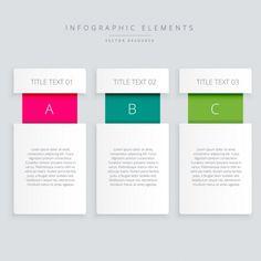 инфографики шаги баннер Бесплатные векторы