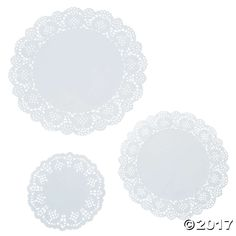 Add these doilies to your arts and crafts supplies for accents to your craft projects. These can also be used for place settings and so much more! Includes 3 ...