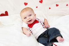 Valentine baby photo shoot