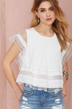 Joa Pleat Nothings Top - Ivory