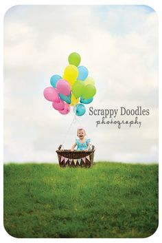 {Children's Photography} Hot Air Balloon First Birthday!