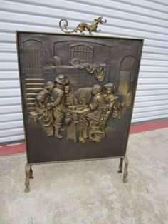 French Antique Fireplace Screen Antique Fire Place Screen