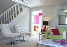 Barratt Homes - Churchill Park (Stoke on Trent) - Palmeston is the design. I love this funky hallway living room, a brilliant use of space. New Home Developments, Barratt Homes, Stoke On Trent, Entrance Hall, Home And Family, New Homes, Lounge, House Design, Living Room