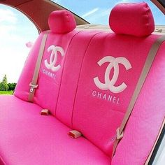 pink Chanel seat covers