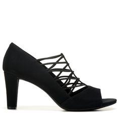 Impo Women's Victorious Peep Toe Pump Shoes (Black)