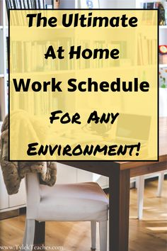 Work From Home Series Part Create Your Daily Schedule – Office organization at work Office Organization At Work, Home Office Setup, Office Ideas, Office Decor, Own Business Ideas, Focus At Work, Work Life Balance Tips, Jobs In Art, Mom Schedule