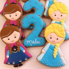 Frozen by Vanilla Art Cookies Baby Girl Birthday Theme, Elsa Birthday Party, Frozen Birthday Party, Frozen Party, Geek Birthday, 3rd Birthday, Frozen Disney, Elsa Frozen, Disney Frozen Birthday