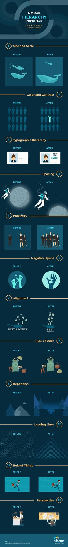 12 #Visual Hierarchy Principles Every Non-Designer Needs to Know #Infographic #Design