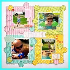 Scrapping with Christine: Echo Park Sunny Days Ahead Summer Layout