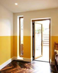 Farrow & Ball Babouche Farrow & Ball Babouche Yellow and White Wall Paint Color Palette This image has get Yellow Walls Living Room, Mustard Living Rooms, Yellow Accent Walls, Living Room Paint, White Wall Paint, Wall Paint Colors, Room Colors, White Walls, Yellow Paint Colors