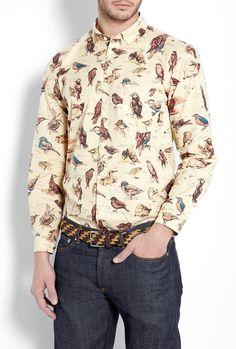 Barbour Cream Bird Liberty Print Shirt in Beige for Men (cream) | Lyst