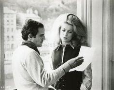 François Truffaut and Catherine Deneuve during the filming of La Sirène du Mississipi