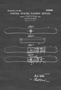 Airplane Propeller Patent - Aviation Blueprint Vintage Aviation Art Airplane Art Pilot Gift  Aircraft Decor Plane Propeller by PatentsAsPrints
