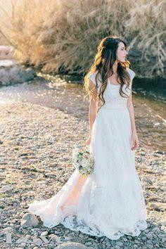 Custom Made Floor-Length Lace Wedding Dress,Cheap Wedding Dresses, Wedding Gown, Bridal Dress on Etsy, $279.99