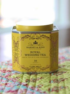 tea tin- royal wedding tea