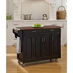 Shop Copper Grove Puff Island Black Finish with Oak Top Kitchen Cart - On Sale -. Shop Copper Grove Puff Island Black Finish with Oak Top Kitchen Cart - On Sale - Overstock - 20000681 Solid Wood Kitchens, Black Kitchens, Home Kitchens, Portable Kitchen Island, Grey Kitchen Island, Kitchen Islands, Asian Kitchen, Kitchen Tops, Kitchen Carts