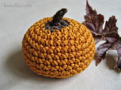 I'm obsessed right now with little crocheted pumpkins ... this is one of the cute patterns I've found.  Thank heavens for those who take the time to post  :)