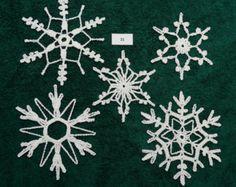 Crocheted Snowflakes - set 21