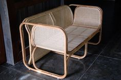 The Deux Cane Lounger - Worn Store Bamboo Sofa, Furniture Decor, Outdoor Furniture, Outdoor Chairs, Outdoor Decor, Sweet Home, Lounge, Cushions, Flooring