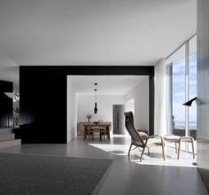 House C:Z SAMI Arquitectos - Black White and open plan