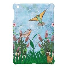 Birds And Floral Cover For The iPad Mini